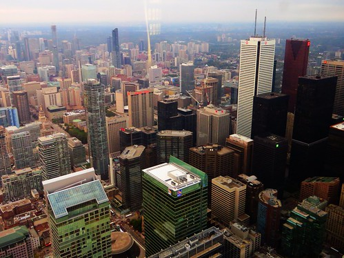 Financial District, Toronto, Ontario from CN Tower