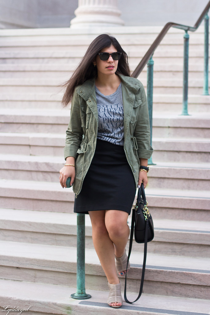 field jacket, black pencil skirt, cheers tee-10.jpg
