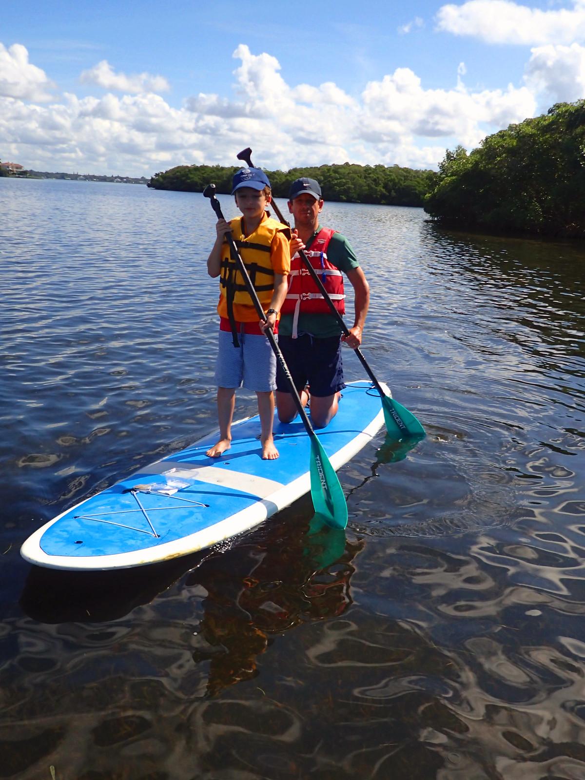 Tandem paddling!