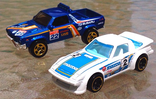 Hot Wheels - Subaru BRAT, Mazda RX-7
