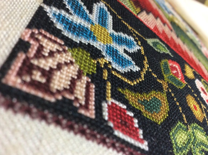 Cross stitch closeup