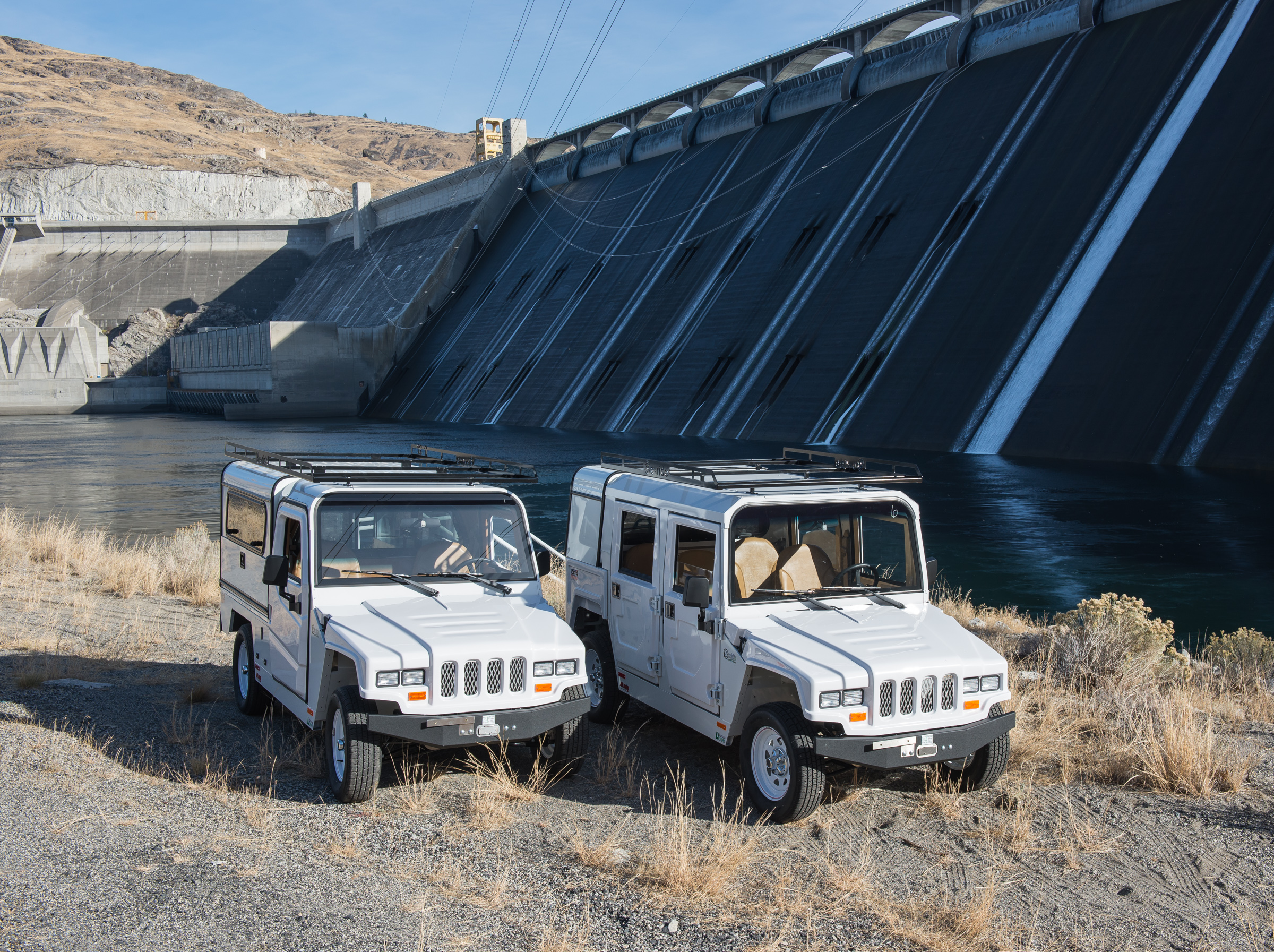 Two models have been purchased for use at Grand Coulee -  EXV4 Patriot - a four passenger commuter; EXV2 Patriot - a two passenger maintenance truck.