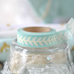 Duck Egg Blue Vintage Style Leaf Washi Tape