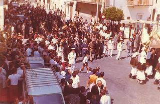 Casamasima- Ricordo di Luigi Ferri-Il sindaco Luigi Ferri che sfila alla processione di San Rocco