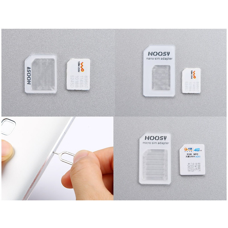 3 in 1 nano sim adapter for iphone 6 6 plus 5 4 4s white lazada malaysia. Black Bedroom Furniture Sets. Home Design Ideas