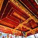 Bali 2015, Pura Puseh Temple Batuan, beautifully finished temple ceilings