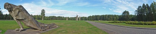 autumn camp panorama concentration photo memorial europe european baker view outdoor mark union eu panoramic baltic latvia september photograph states salaspils unbroken 2015 picsmark