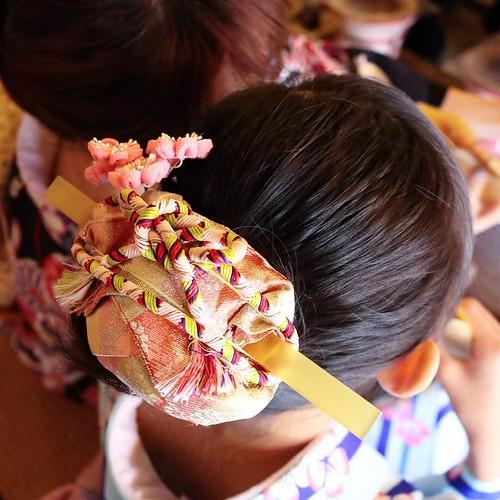 髪飾りもきれい。 #日光江戸村 #edowonderland