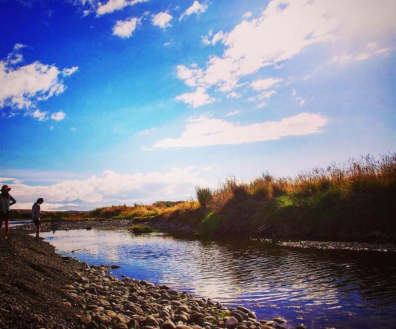 NZのどっかの川 フライフィッシングについて行って何も釣れなかったなー でも楽しかったよとても  #ニュージーランド #NZ #フライフィッシング #川 #空 #雲 #sky #clouds #river #flyfishing