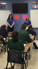 Beth Stuart and Nena Holder-PriorityOne Bank - Lamar Christian School - 1