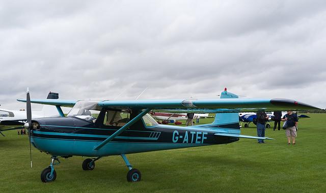 G-ATEF Cessna 150, Sywell, Fujifilm X-Pro1, XF27mmF2.8
