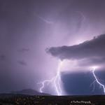 30. August 2015 - 21:39 - 'Striking Granite:' Lightning strikes over Granite Mountain tonight in Prescott, Arizona.