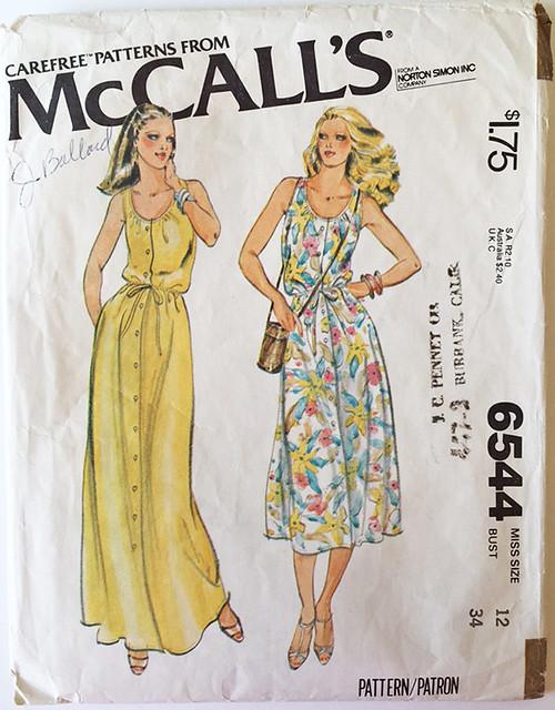 McCalls 6544 vintage pattern envelope