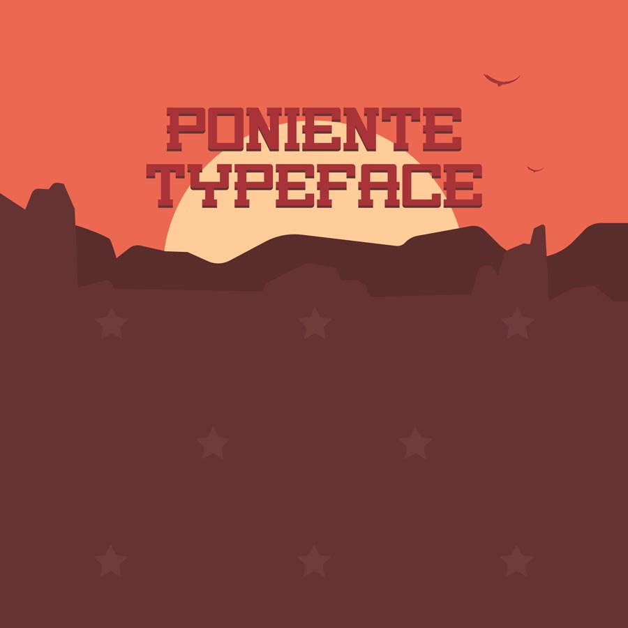 Poniente font for Adobe Photoshop