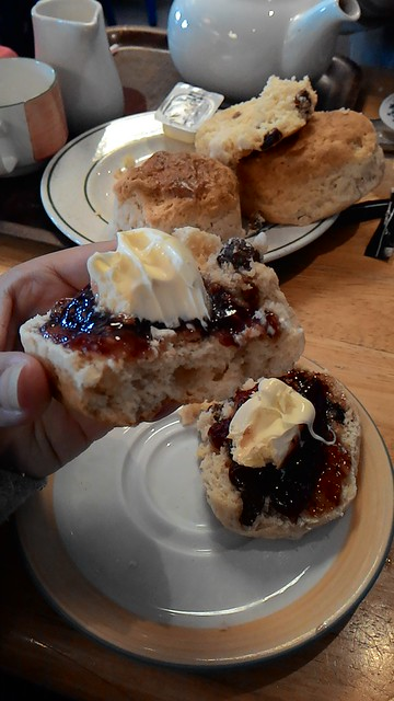 The Regent Cafe Lizard Cornwall cream tea