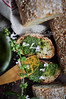 Homemade Bread and homemade pesto