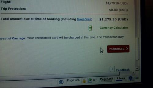 Flight to Bangkok Booked