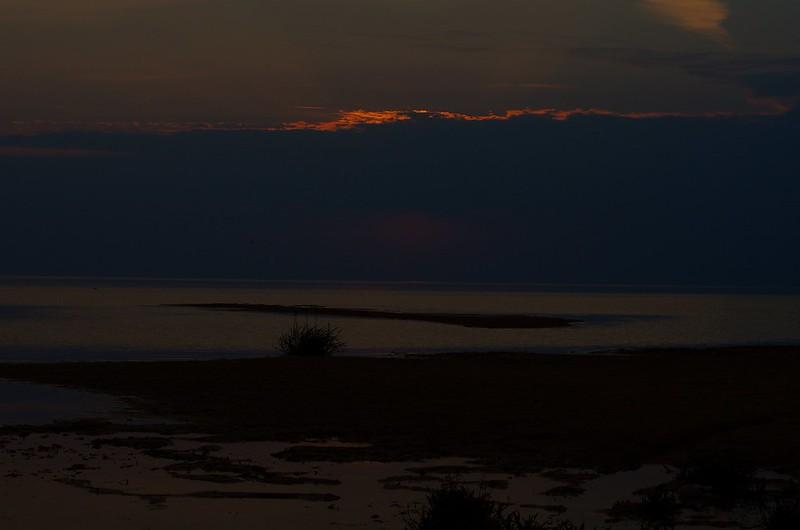 Чудское озеро, Псковская область, Россия, закат