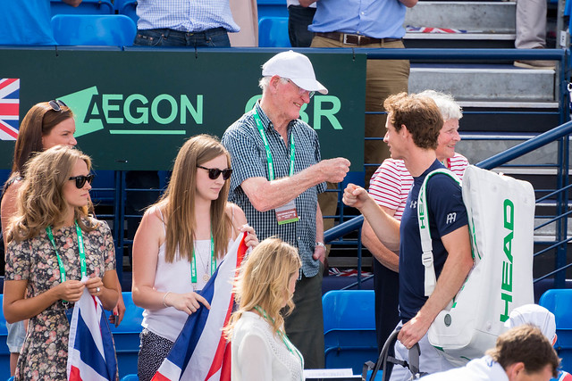 Andy Murray with his grandparents