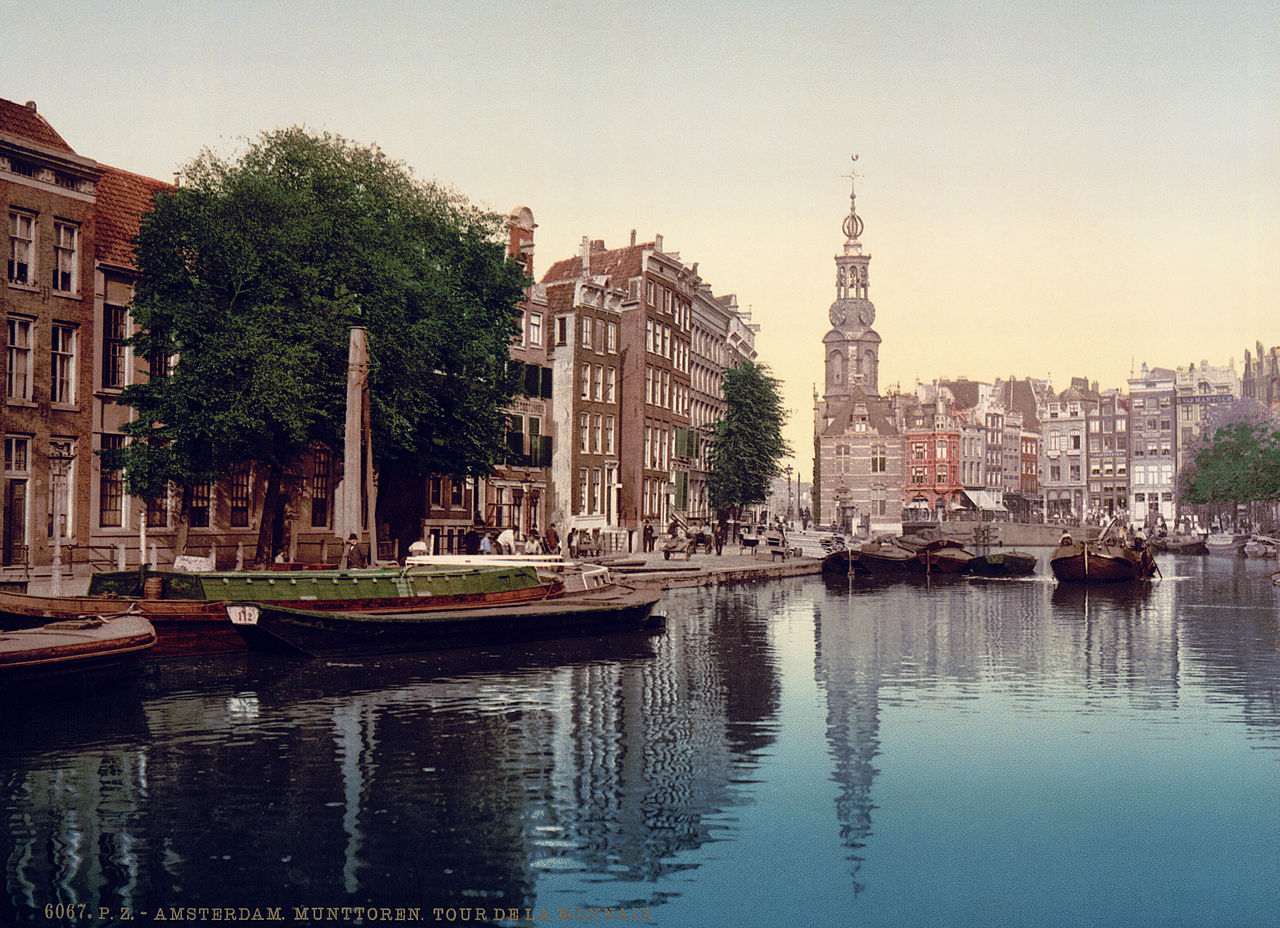 The Singel in Amsterdam, the Netherlands