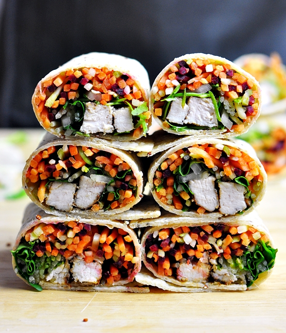 Banh Mi Wrap ft Mission Chia Wraps & Red Quinoa Wraps | www.fussfreecooking.com