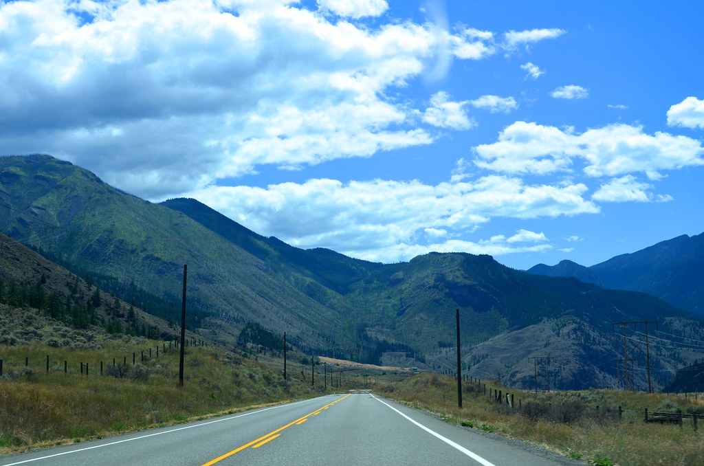 The road through the Fraser Canyon