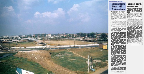 View of Pershing Field sometime after 1965 - Saigon Bomb Blasts Kill 2 Americans - Park City Daily News - Feb 10, 1964