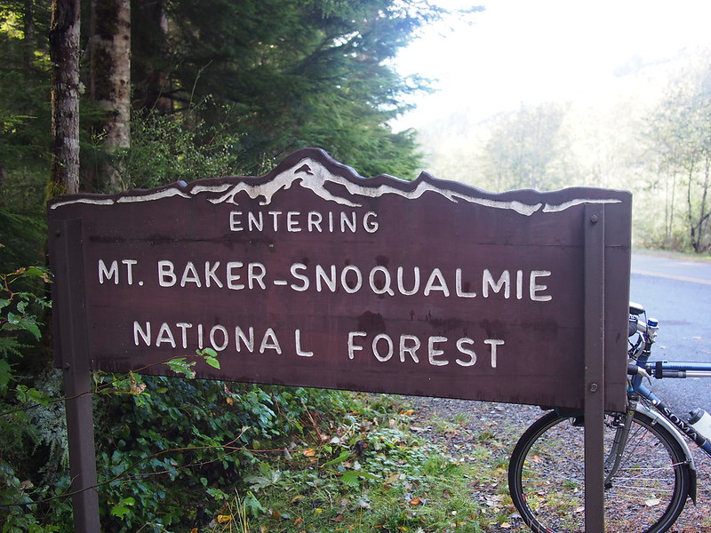 Back Side of Mount Rainier National Park Sign