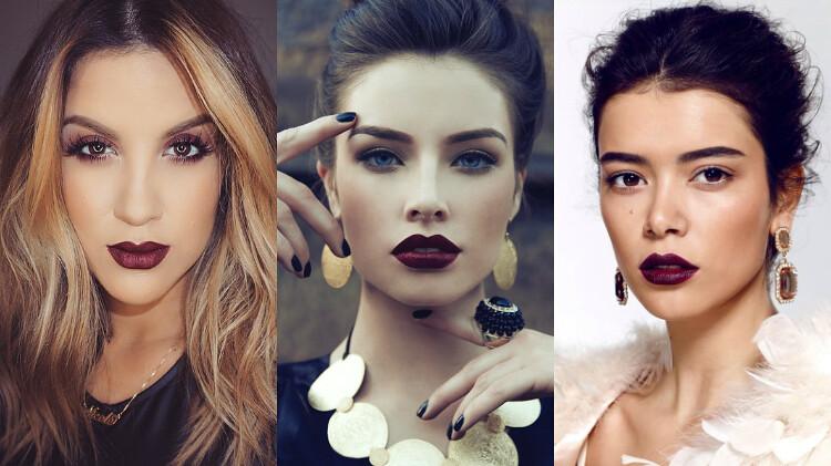 cute & little blog | vampy lips | fall makeup trend
