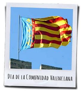 De vlag van de Comunidad Valenciana