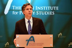 Deputy Secretary of State Antony 'Tony' Blinken delivers remarks on the U.S.-South Korea Alliance at the Asan Institute in Seoul, South Korea, on October 7, 2015. [State Department photo/ Public Domain]
