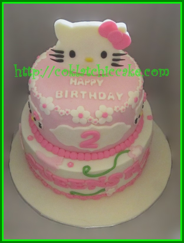 Cake Hello Kitty Queensha Coklatchic Cake