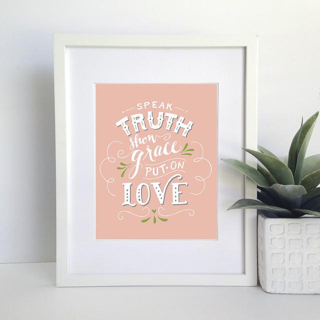 speak truth pink