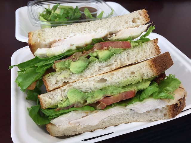 Toasted chicken club sandwich - Boudin Bakery and Cafe