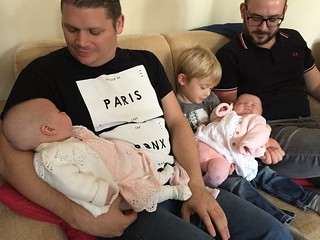 The twins with Adam, Oliver & Dave