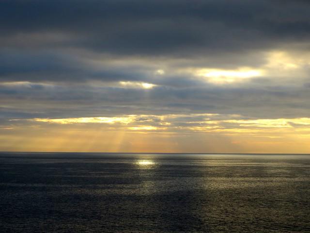 clouded sunrise