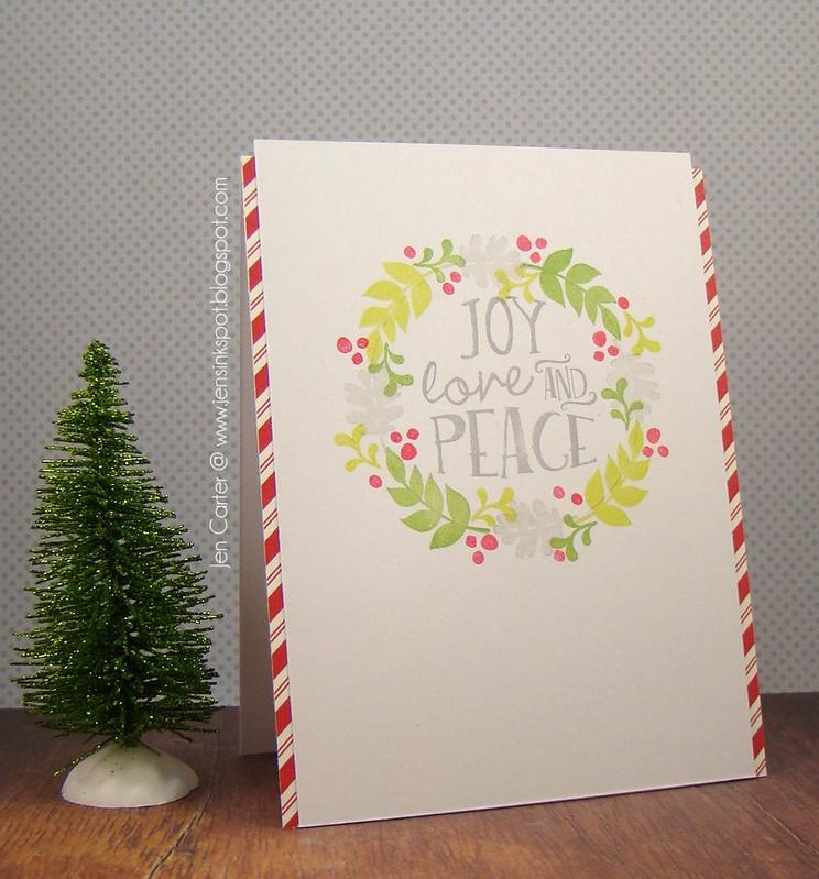 Jen Carter Joy Love Peace Wreath