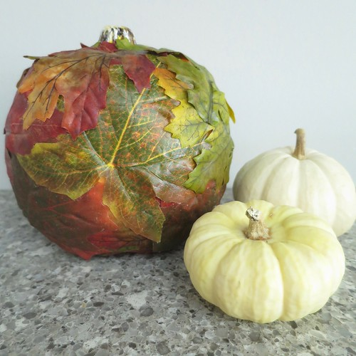 Iron Craft '15 Challenge #22 - Leaf Covered Pumpkin