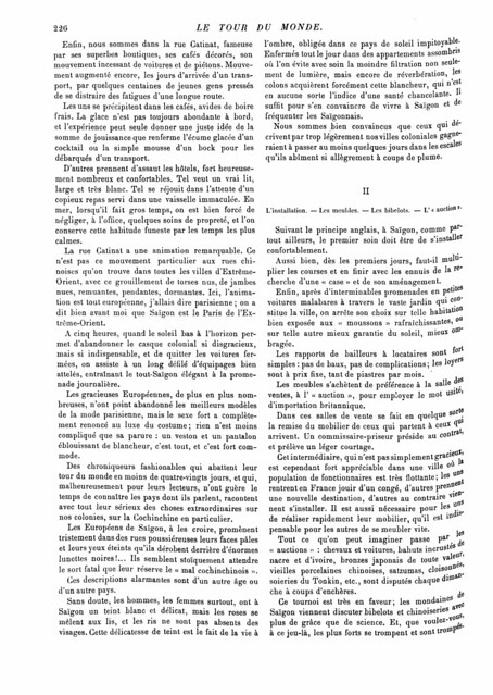 SAIGON 1893 (2) - LE TOUR DU MONDE (7-10-1893)