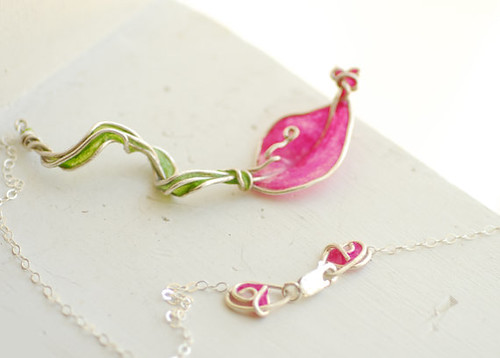Calla Lily Statement Necklace and Clasp