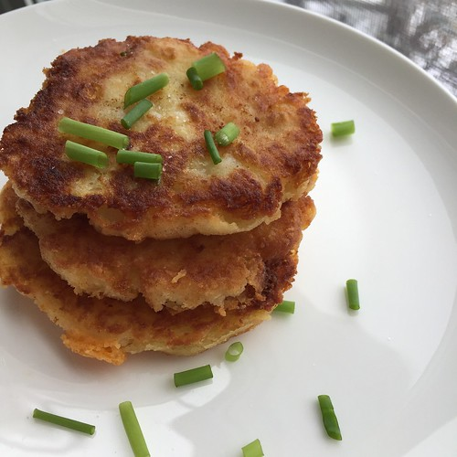 December 28 #dailylunches - mashed potato pancakes