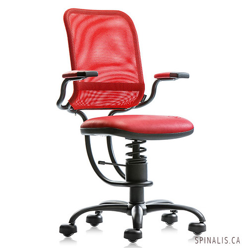 SpinaliS Canada - Ergonomic Series Chair - Red Color - Best office chair for long hours sitting and extended use