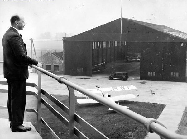 Main hangar, Barton Airport, taken from the Barton Control Tower 1933
