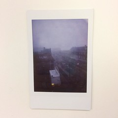 I took this really spooky fog instant photo this morning and put it in my bag without waiting for the picture to appear since I had to leave for work directly. Only just now remembered it. Very accurate depiction of how 'the dementors are breeding' this m
