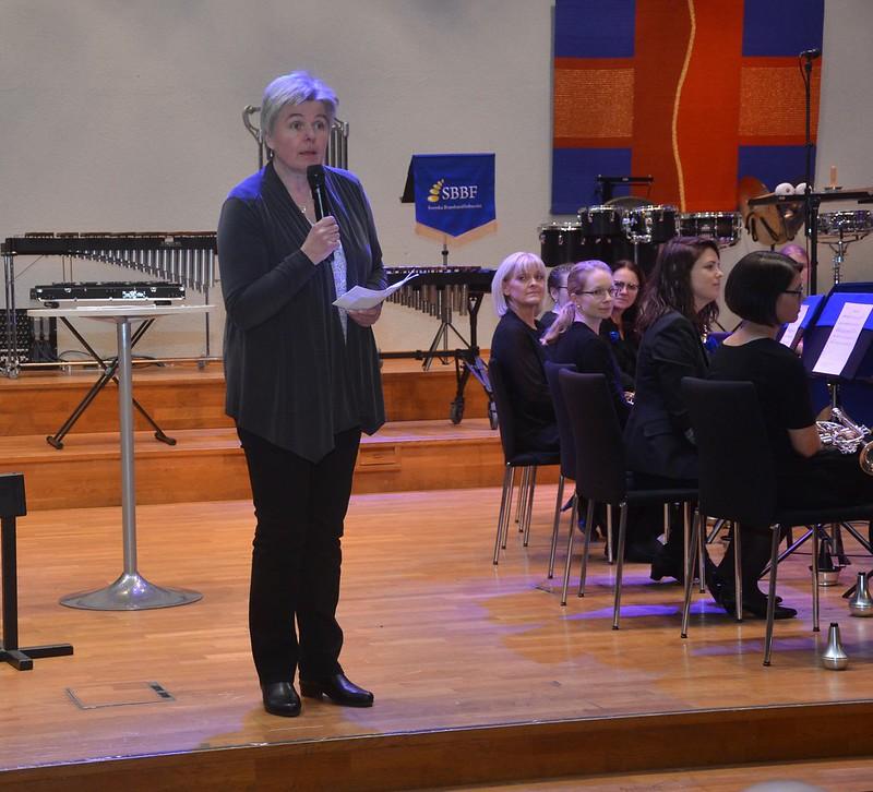 Ordförande Berit Palmquist öppnar årets brassfestival
