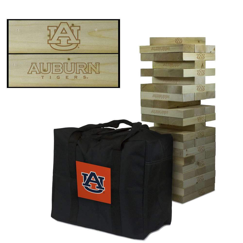 Auburn University Tigers Wooden Tumble Tower Game