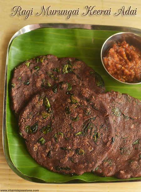 Ragi Drumstick Leaves Adai Recipe