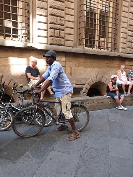 cyclistes et piétons