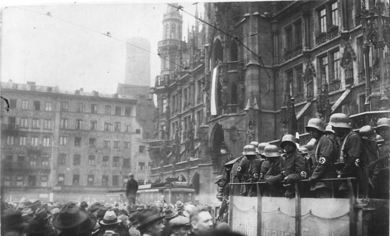 Munich Marienplatz during the Beer Hall Putsch