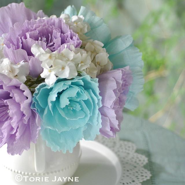 Crepe Paper Peony Flower Tutorial Torie Jayne